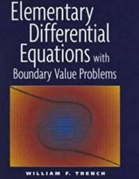 دانلود حل المسائل کتاب معادلات دیفرانسیل مقدماتی William Trench