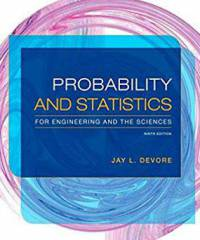 دانلود حل المسائل کتاب آمار و احتمال مهندسی جی دیور Jay Devore