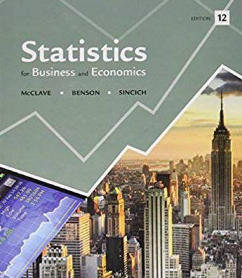 دانلود حل المسائل کتاب آمار تجارت و اقتصاد مک کلیو James McClave